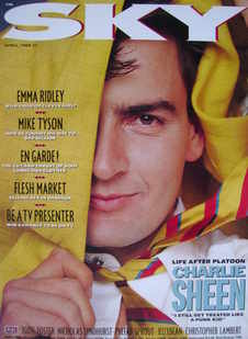 Sky magazine - Charlie Sheen cover (April 1988)