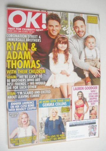 <!--2016-01-12-->OK! magazine - Adam and Ryan Thomas cover (12 January 2016