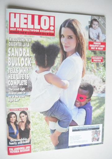 <!--2015-12-14-->Hello! magazine - Sandra Bullock cover (14 December 2015 -
