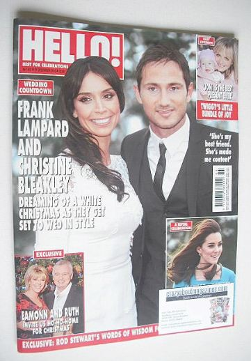 <!--2015-12-21-->Hello! magazine - Christine Bleakley and Frank Lampard cov