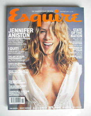 <!--2002-11-->Esquire magazine - Jennifer Aniston cover (November 2002)
