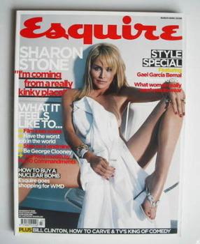 Esquire magazine - Sharon Stone cover (March 2006)