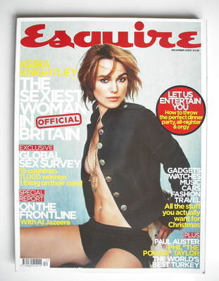 <!--2005-12-->Esquire magazine - Keira Knightley cover (December 2005)