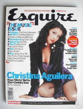 Esquire magazine - Christina Aguilera cover (October 2003)
