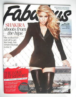 <!--2010-03-28-->Fabulous magazine - Shakira cover (28 March 2010)