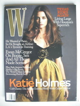 W magazine - August 2005 - Katie Holmes cover