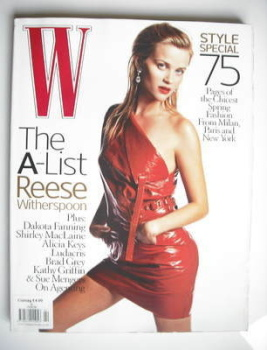 W magazine - February 2006 - Reese Witherspoon cover