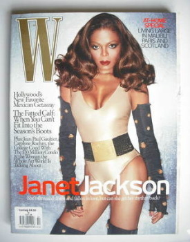W magazine - October 2006 - Janet Jackson cover