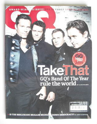 <!--2009-10-->British GQ magazine - October 2009 - Take That cover
