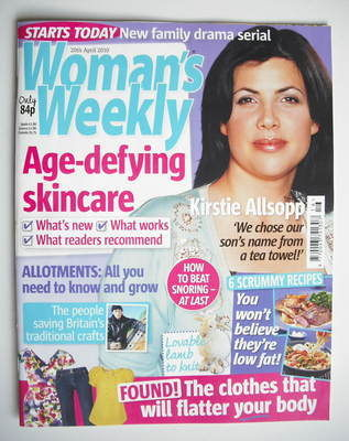 <!--2010-04-20-->Woman's Weekly magazine (20 April 2010 - Kirstie Allsopp c