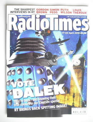 <!--2010-04-17-->Radio Times magazine - Dalek cover (17-23 April 2010) (Blu