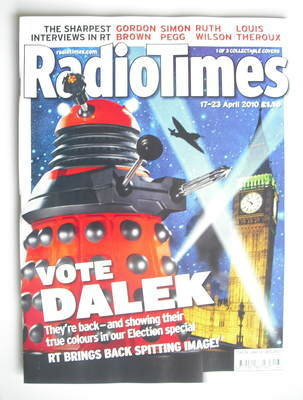 <!--2010-04-17-->Radio Times magazine - Dalek cover (17-23 April 2010) (Red