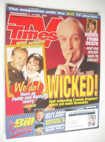 <!--1995-11-04-->TV Times magazine - Ian Richardson cover (4-10 November 19