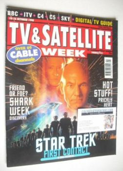TV & Satellite Week magazine - Star Trek cover (10-16 October 1998)