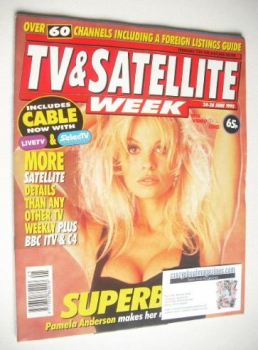TV & Satellite Week magazine - Pamela Anderson cover (24-30 June 1995)