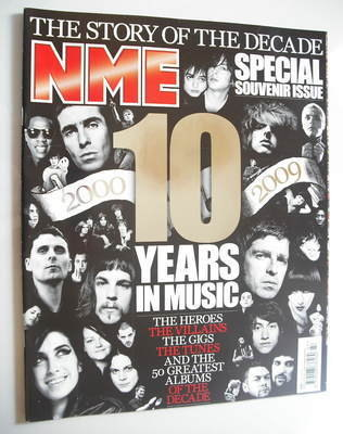 <!--2009-11-21-->NME magazine - 10 Years In Music cover (21 November 2009)