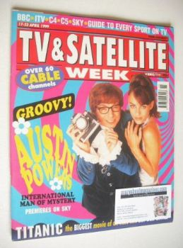 TV & Satellite Week magazine - Austin Powers cover (17-23 April 1999)