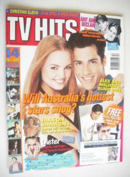 TV Hits magazine - December 1994 - Alex Dimitriades and Melissa George cover
