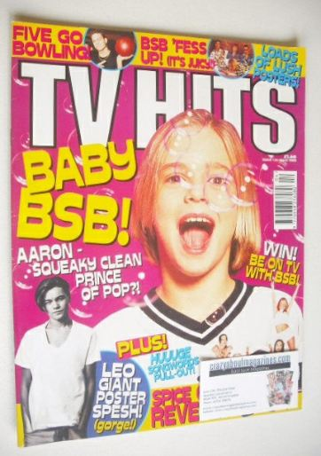 <!--1998-04-->TV Hits magazine - April 1998 - Aaron Carter cover
