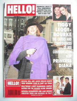 <!--1996-02-03-->Hello! magazine - Tiggy Legge-Bourke cover (3 February 1996 - Issue 392)