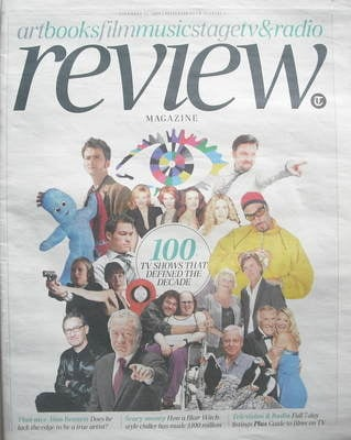 The Daily Telegraph Review newspaper supplement - 21 November 2009 - 100 TV