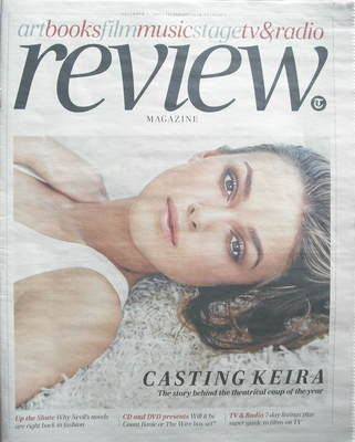The Daily Telegraph Review newspaper supplement - 5 December 2009 - Keira K