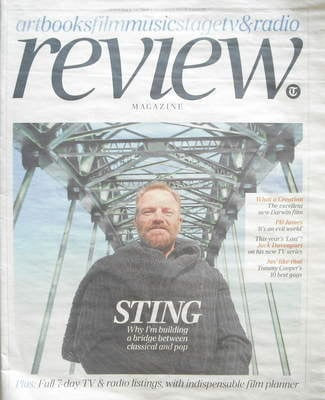 The Daily Telegraph Review newspaper supplement - 26 September 2009 - Sting
