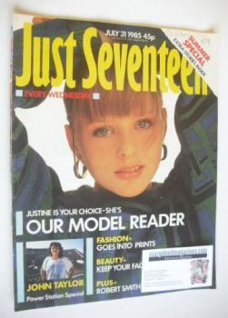 Just Seventeen magazine - 31 July 1985