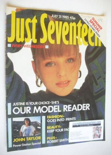 <!--1985-07-31-->Just Seventeen magazine - 31 July 1985