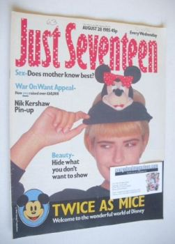 <!--1985-08-28-->Just Seventeen magazine - 28 August 1985