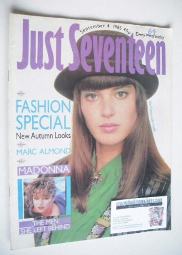 <!--1985-09-04-->Just Seventeen magazine - 4 September 1985