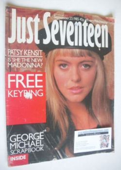 Just Seventeen magazine - 25 September 1985 - Patsy Kensit cover