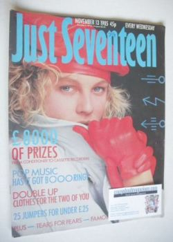 <!--1985-11-13-->Just Seventeen magazine - 13 November 1985