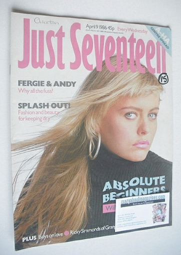 <!--1986-04-09-->Just Seventeen magazine - 9 April 1986 - Patsy Kensit cove