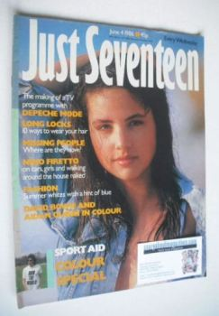 Just Seventeen magazine - 4 June 1986