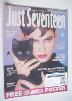 Just Seventeen magazine - 29 October 1986
