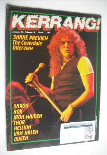 <!--1984-01-26-->Kerrang magazine - David Coverdale cover (26 January - 8 F
