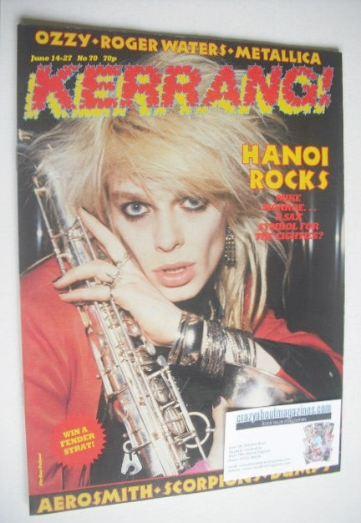<!--1984-06-14-->Kerrang magazine - Mike Monroe cover (14-27 June 1984 - Is
