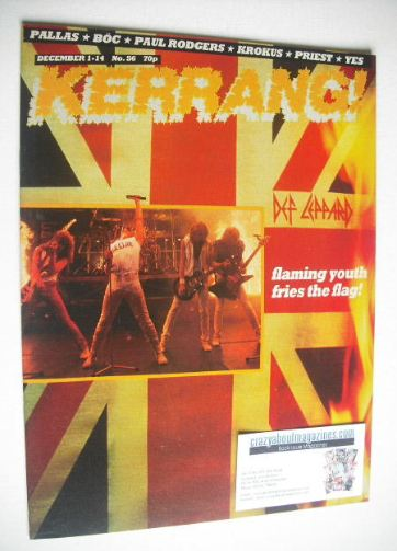 <!--1983-12-01-->Kerrang magazine - Def Leppard cover (1-14 December 1983 -
