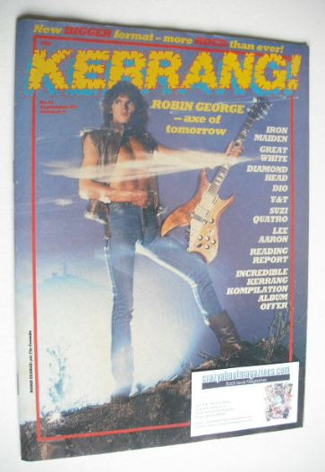 <!--1983-09-22-->Kerrang magazine - Robin George cover (22 September - 5 Oc