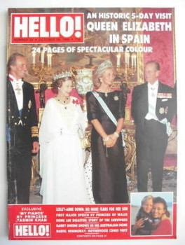 Hello! magazine - Queen Elizabeth II cover (29 October 1988 - Issue 24)