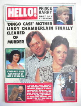 Hello! magazine - Lindy Chamberlain cover (24 September 1988 - Issue 19)