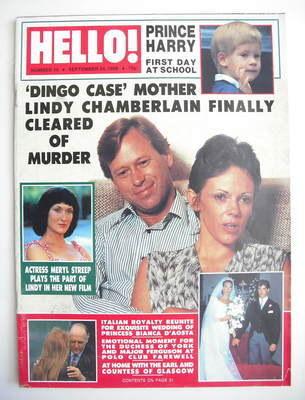 <!--1988-09-24-->Hello! magazine - Lindy Chamberlain cover (24 September 19