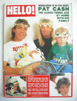 <!--1988-07-02-->Hello! magazine - Pat Cash cover (2 July 1988 - Issue 7)