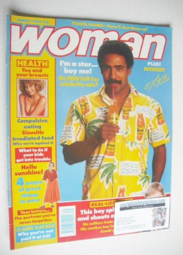 <!--1989-08-07-->Woman magazine - Daley Thompson cover (7 August 1989)