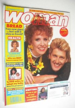 Woman magazine - Graham Bickley and Melanie Hill cover (4 September 1989)
