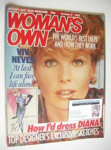 <!--1984-10-06-->Woman's Own magazine - 6 October 1984 - Viv Neves cover