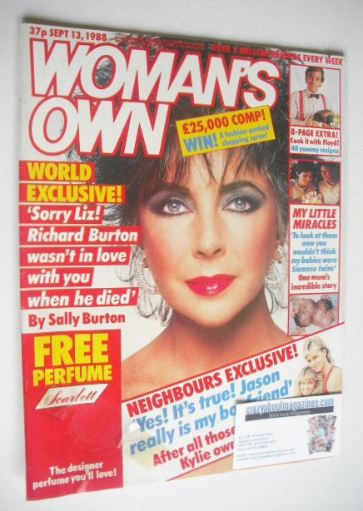 <!--1988-09-13-->Woman's Own magazine - 13 September 1988 - Elizabeth Taylo