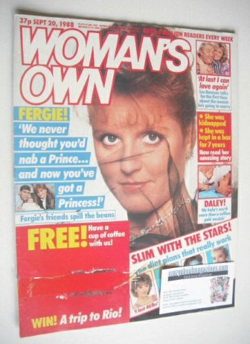 <!--1988-09-20-->Woman's Own magazine - 20 September 1988 - Sarah Ferguson