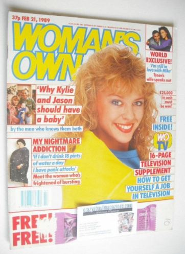 <!--1989-02-21-->Woman's Own magazine - 21 February 1989 - Kylie Minogue co
